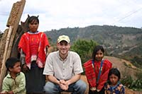 Seth Holmes with indigenous children